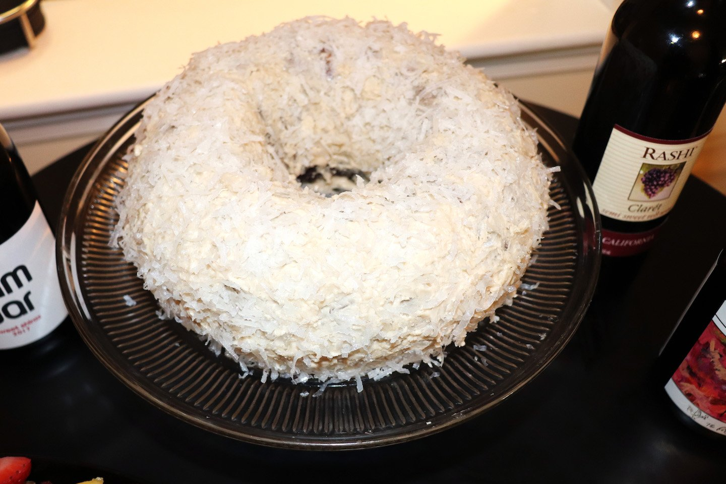 Friendsgiving Devils Food Coconut Cake