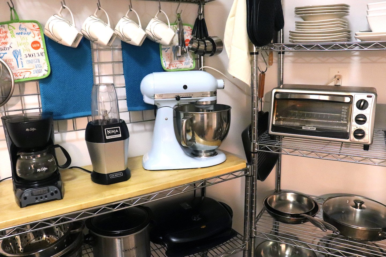 KitchenAid Stand Mixer Storage in Small Kitchen