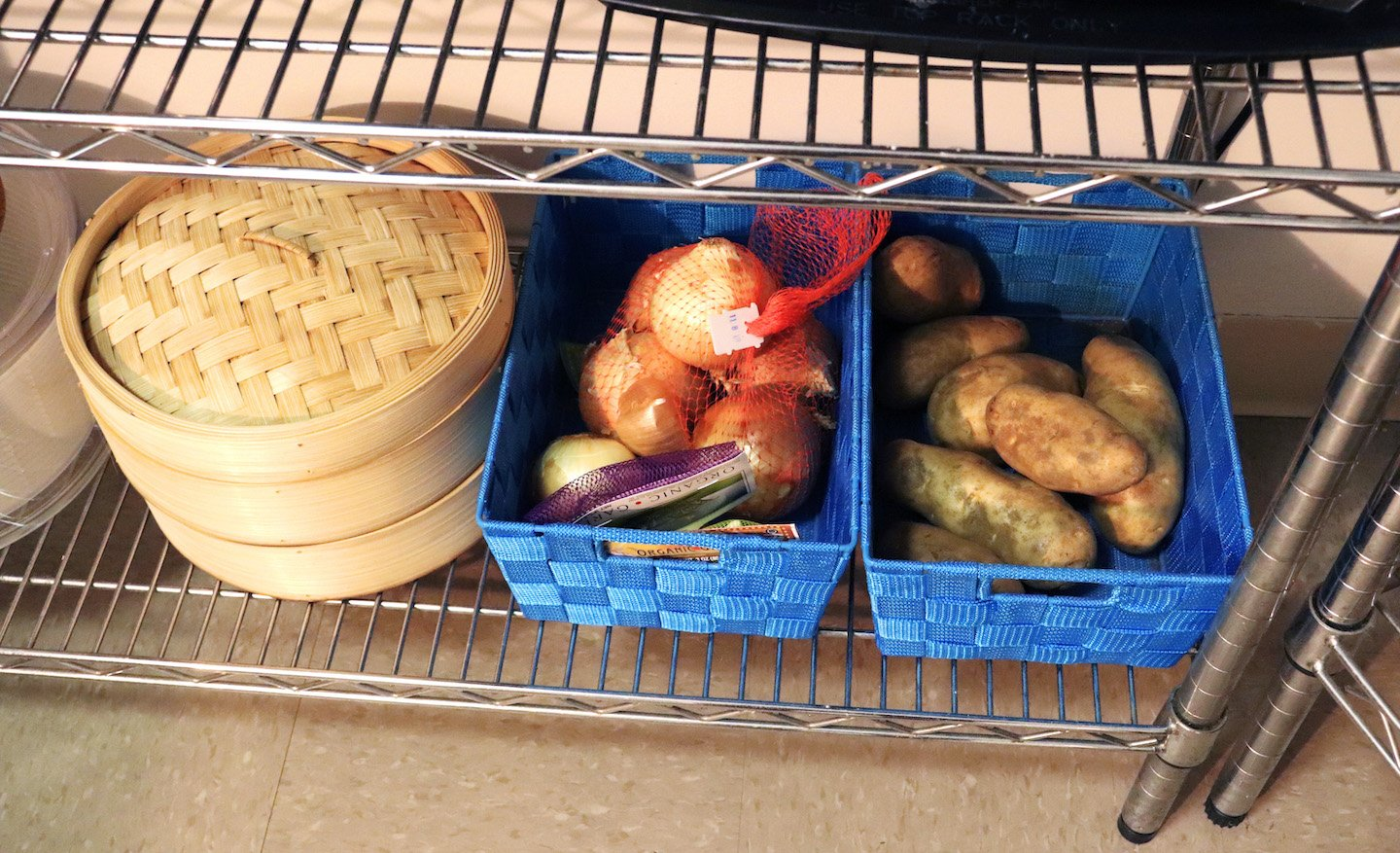 Potato & Onion Basket Storage