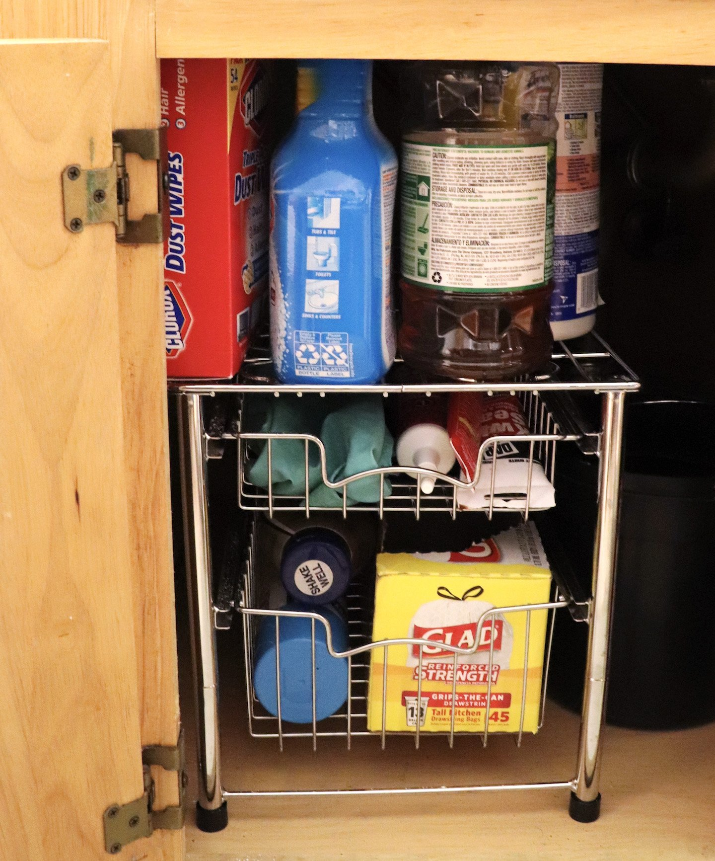 How To Declutter Under The Kitchen Sink Cabinet