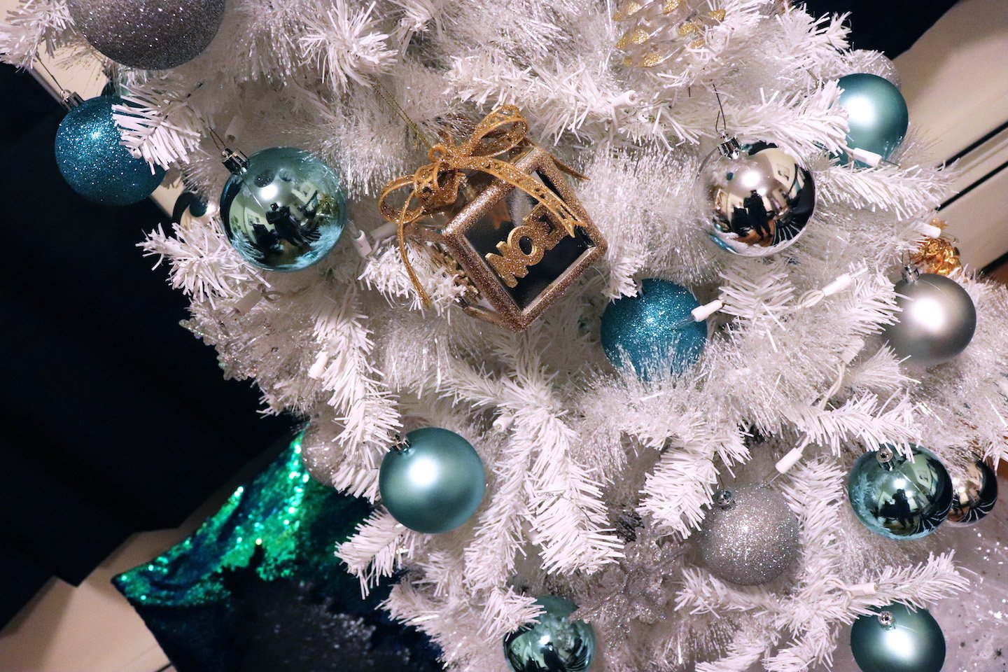 Tiffany Blue Christmas Tree Ornaments