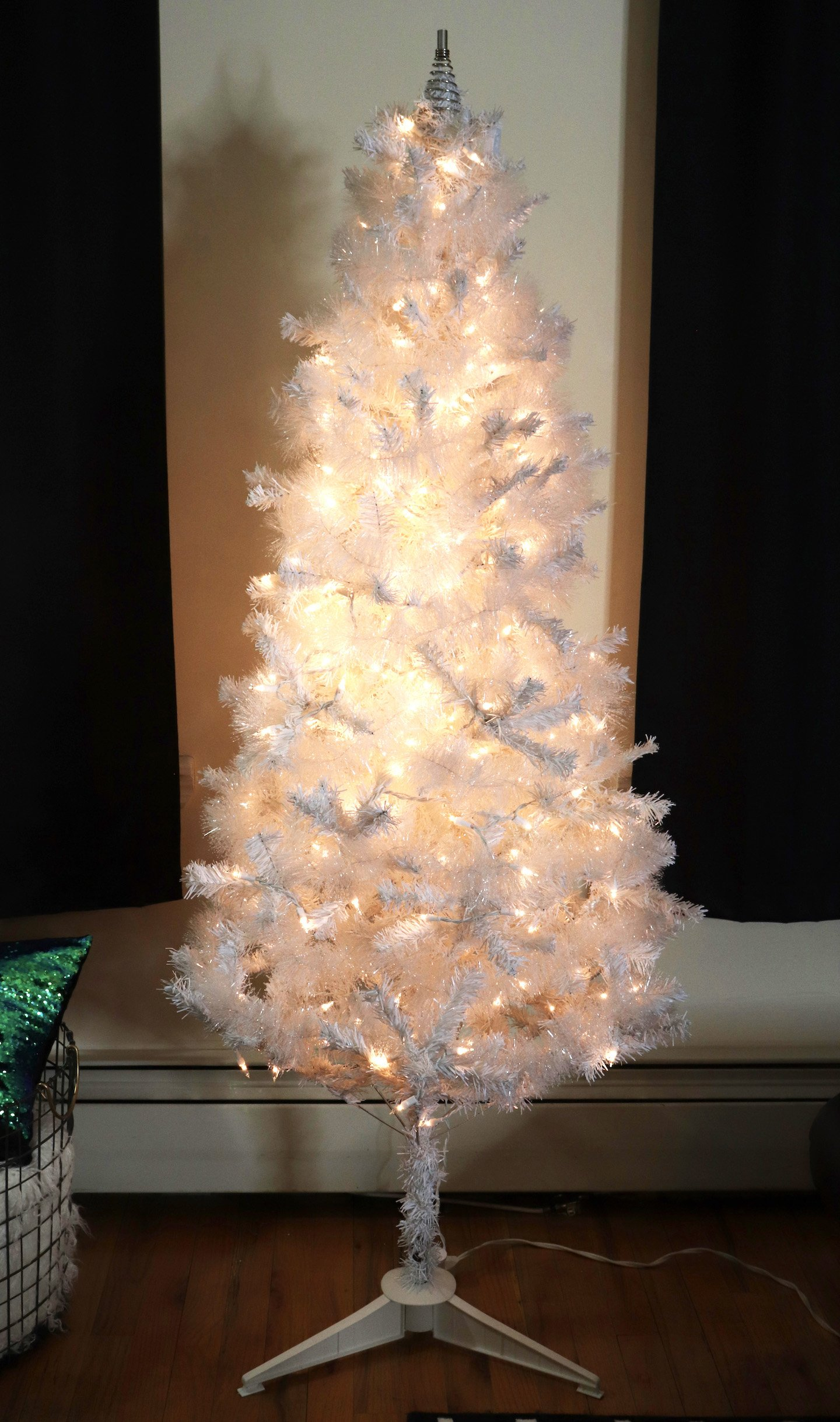 Cheap Christmas Tree After Garland