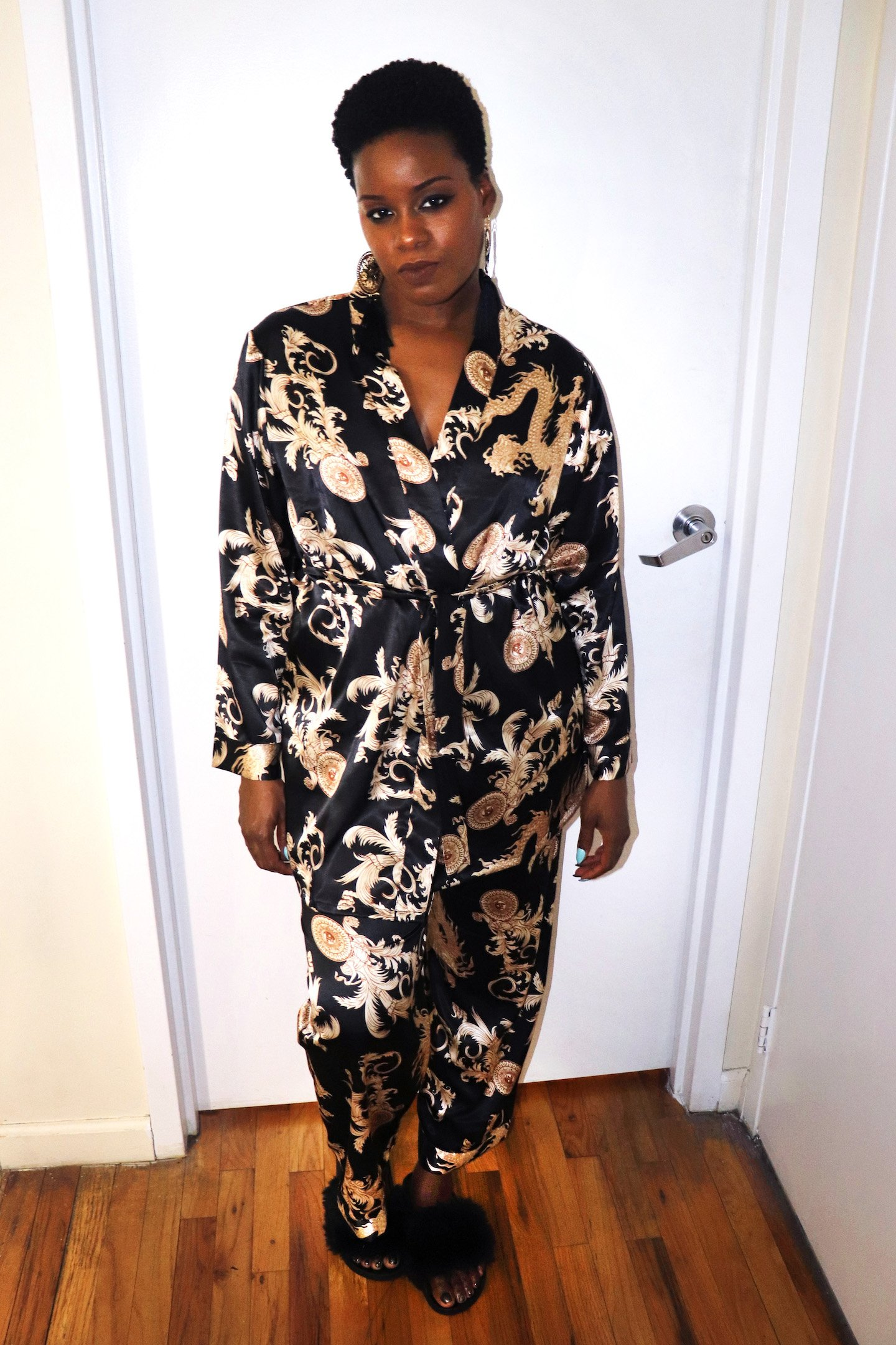 NYE Glam Pajama Jam Outfit