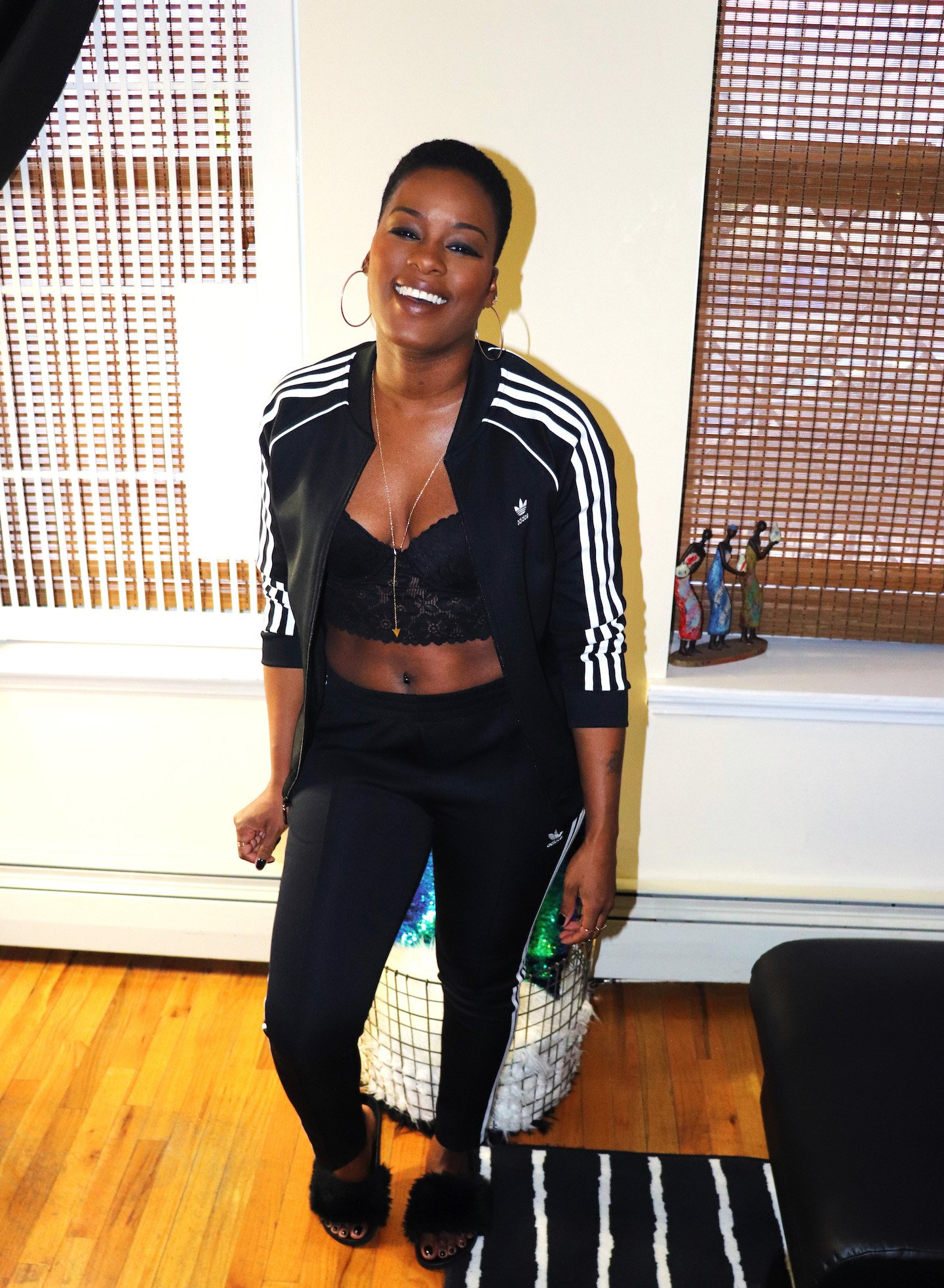 How To Wear A Tracksuit With A Bralette