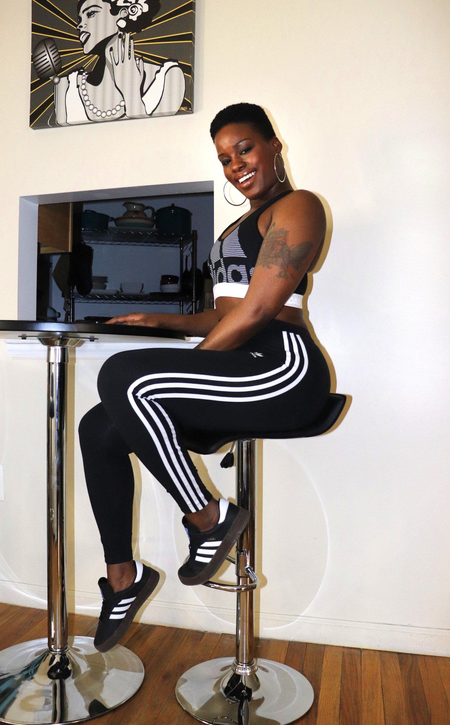 adidas Alphaskin Bra, 3 Stripe Legging, Samba Rose Outfit