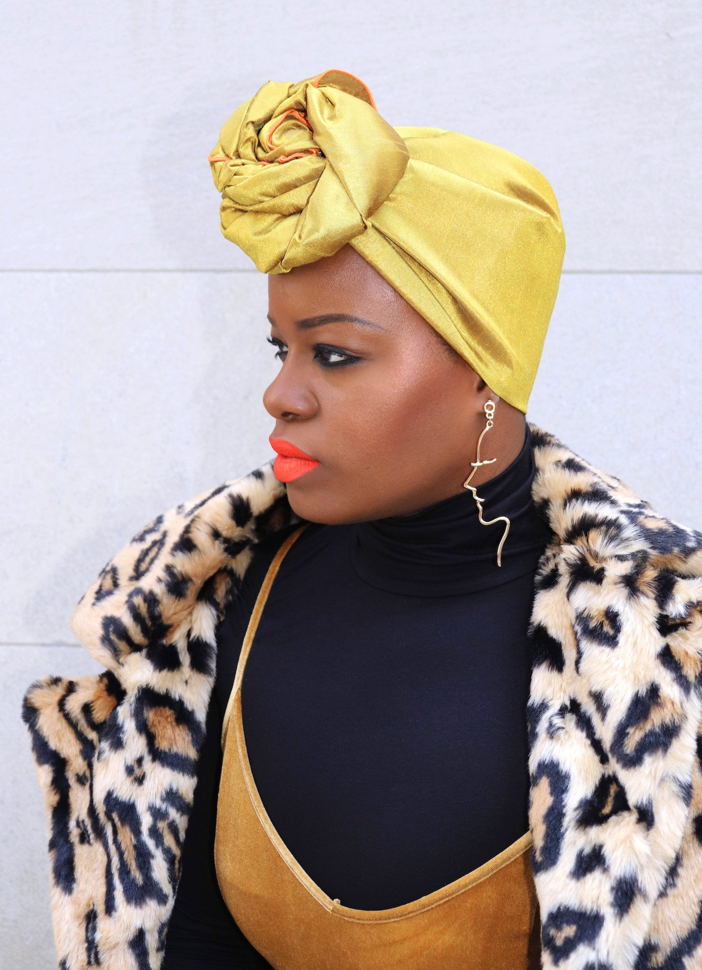 Tropic Isle Sunset of Africa Headwrap + MAC Quite The Stand Out Lipstick