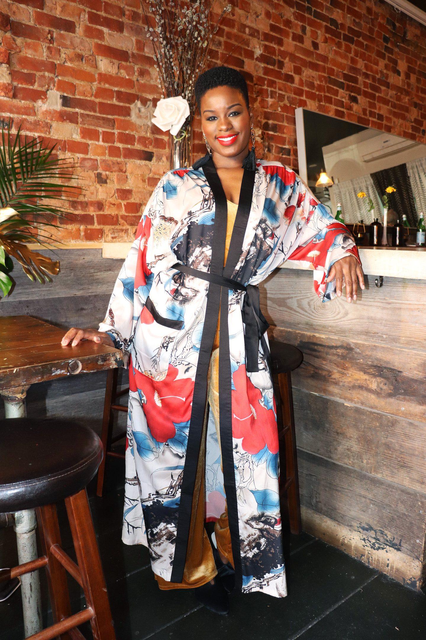 Shein Calico Kimono Spring Outfit