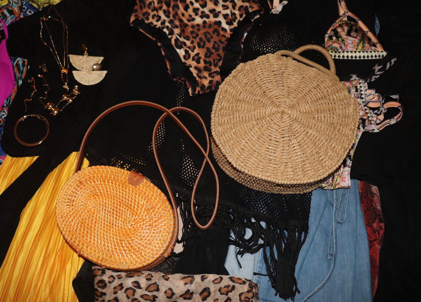 All Inclusive Vacation Straw Bags