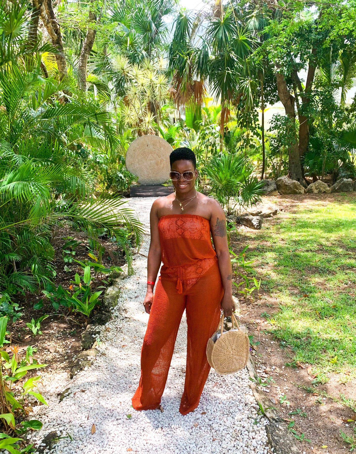 Net Jumpsuit Coverup Outfit