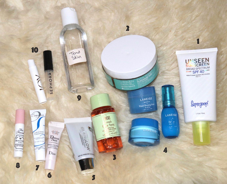Travel Beauty Bag Skincare Essentials