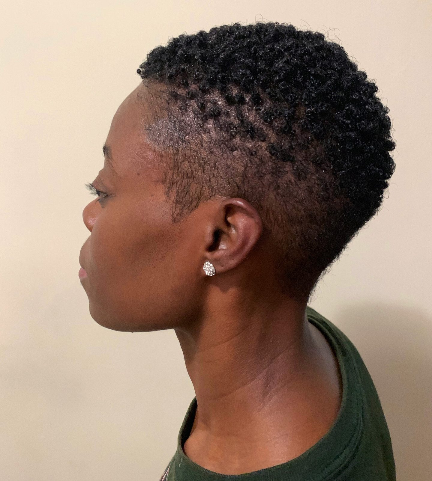 4C Tapered Cut Styled With Mielle Organics Pomegranate & Honey Collection