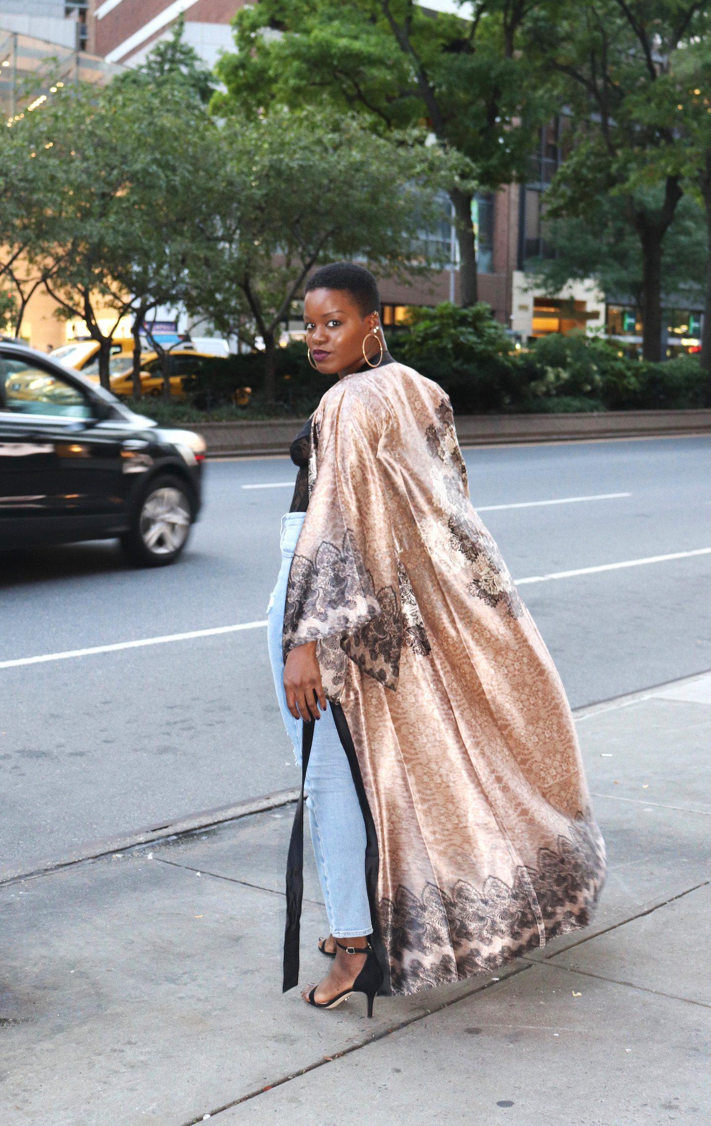 Boohoo Kimono Outfit