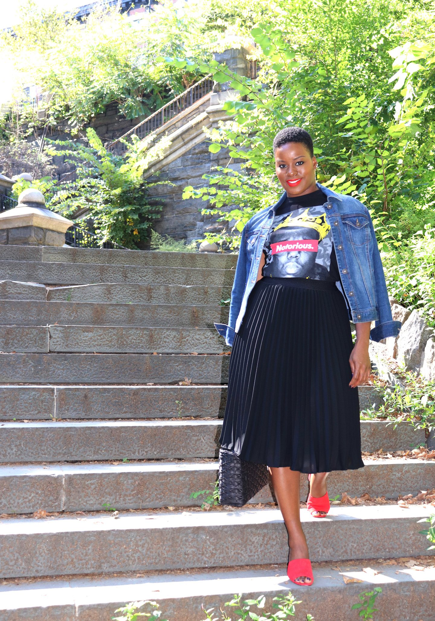 Pleated Midi Skirt Outfit