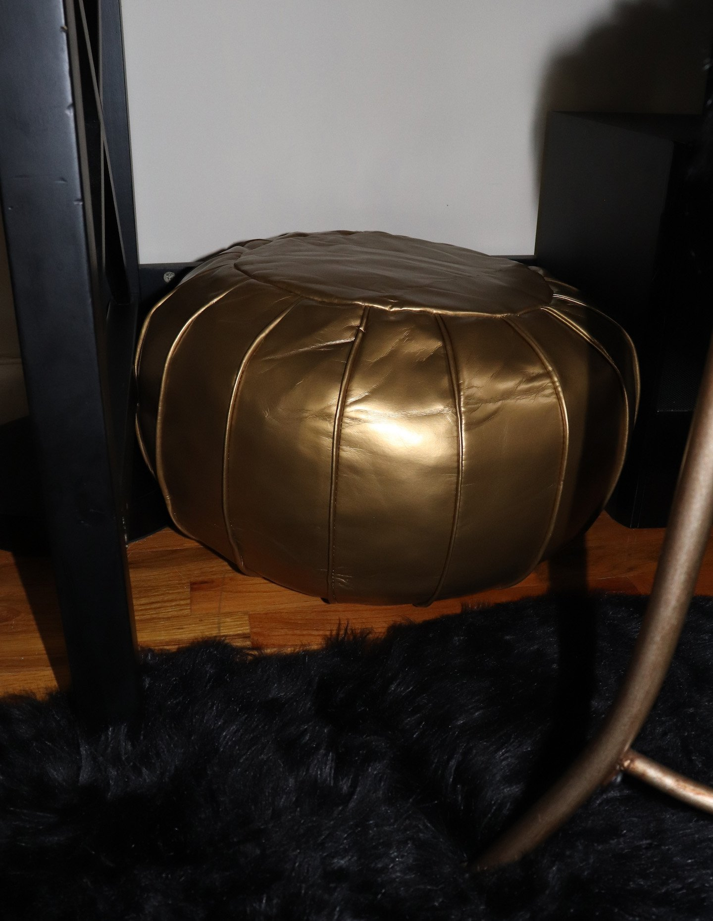 Gold Pouf Ottoman Office Decor