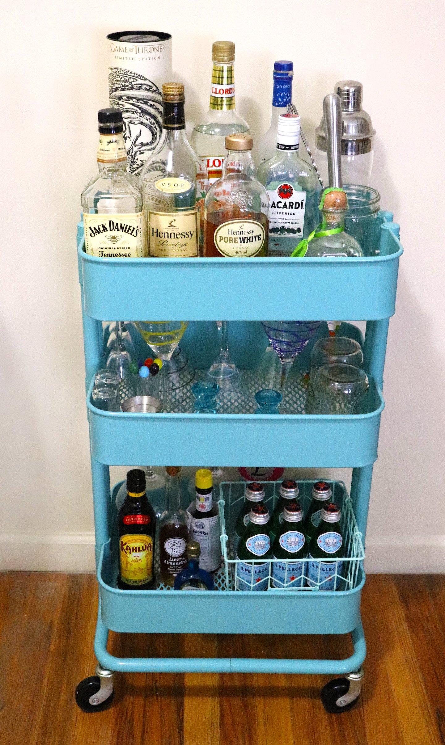 Ikea Raskog Bar Cart Tiffany Blue