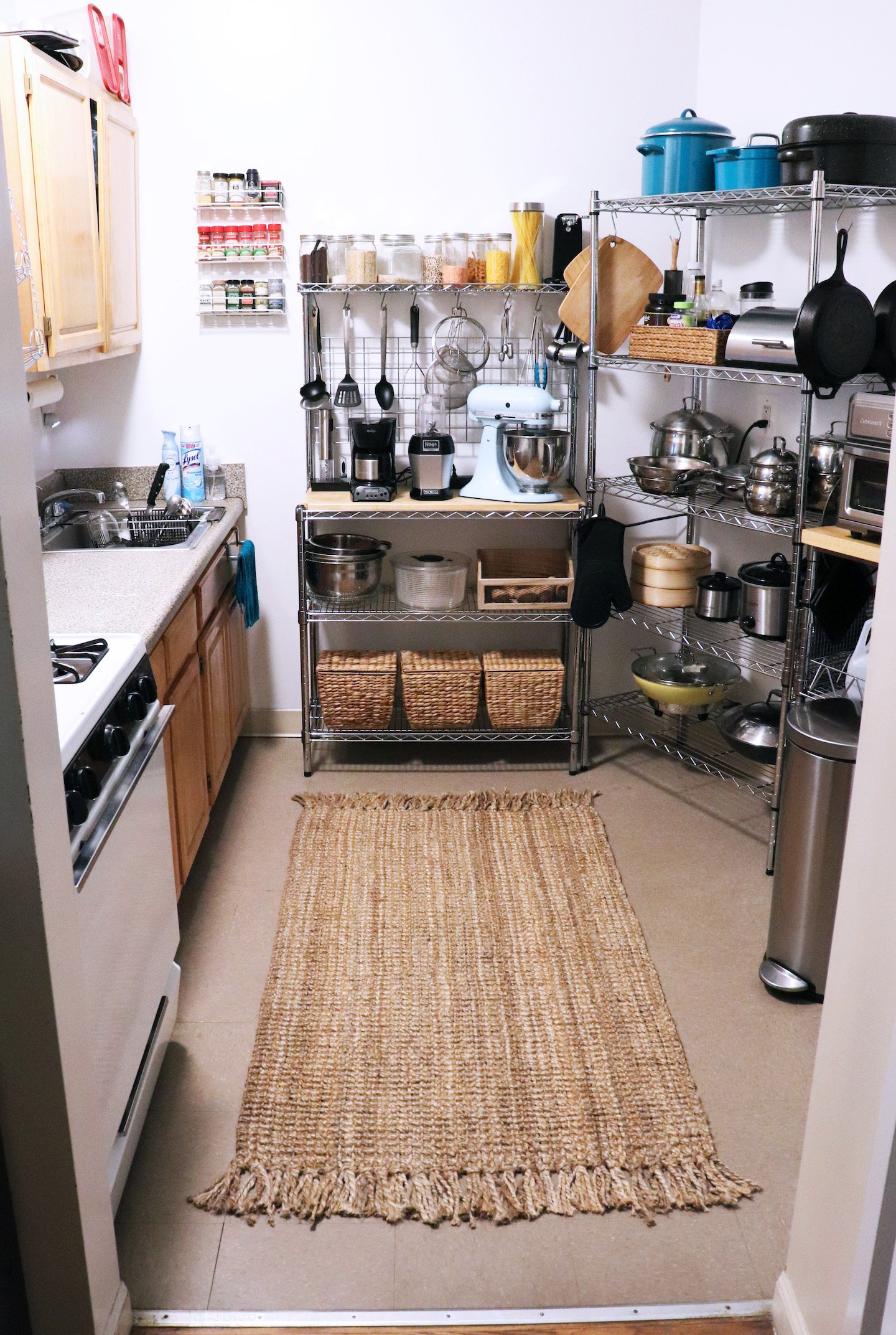 Jute Rug Rental Kitchen Decor