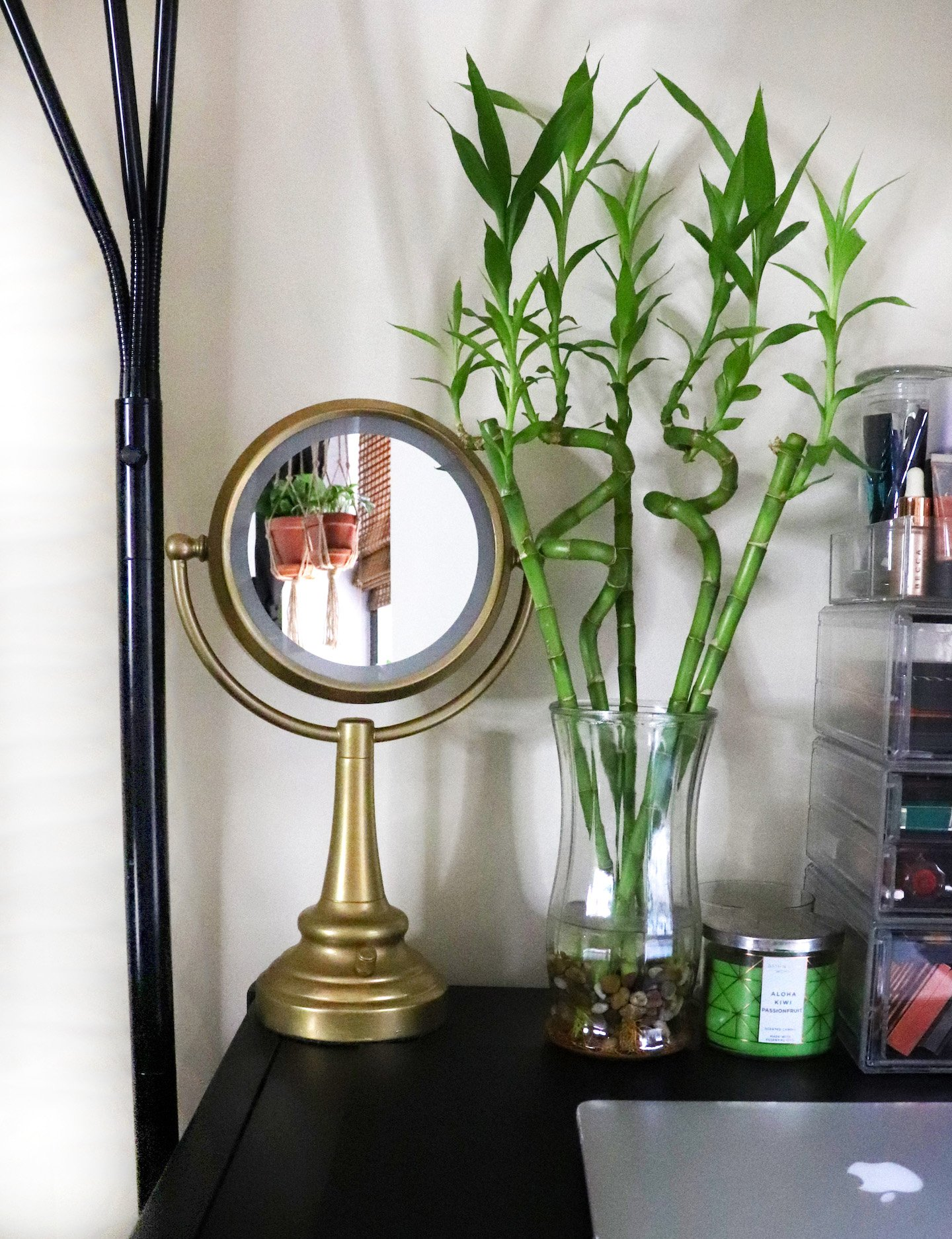 Gold Mirror Vanity Decor