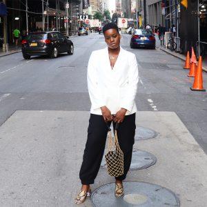 Cream Blazer Outfit