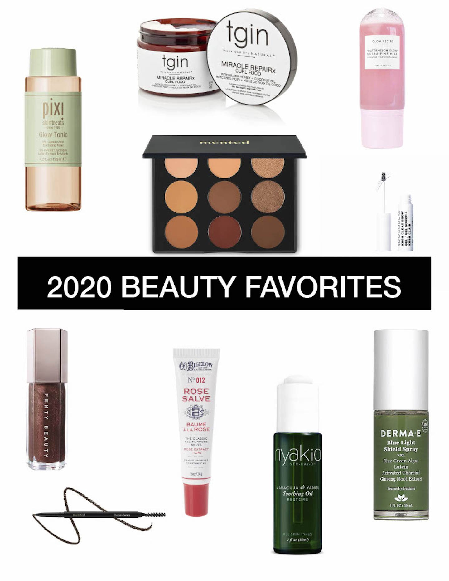 Top Ten 2020 Beauty Favorites