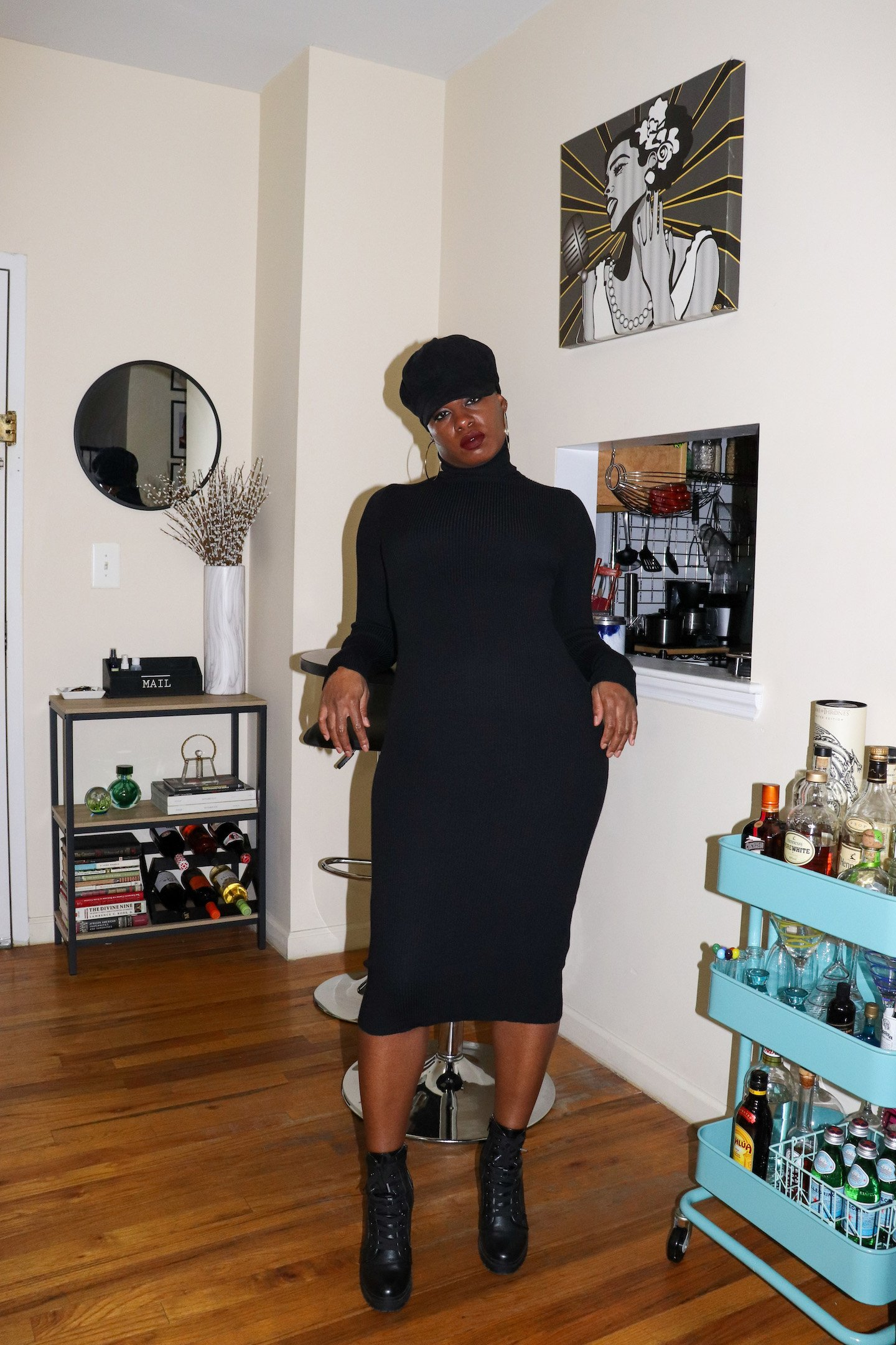Amazon Turtleneck Sweater Dress
