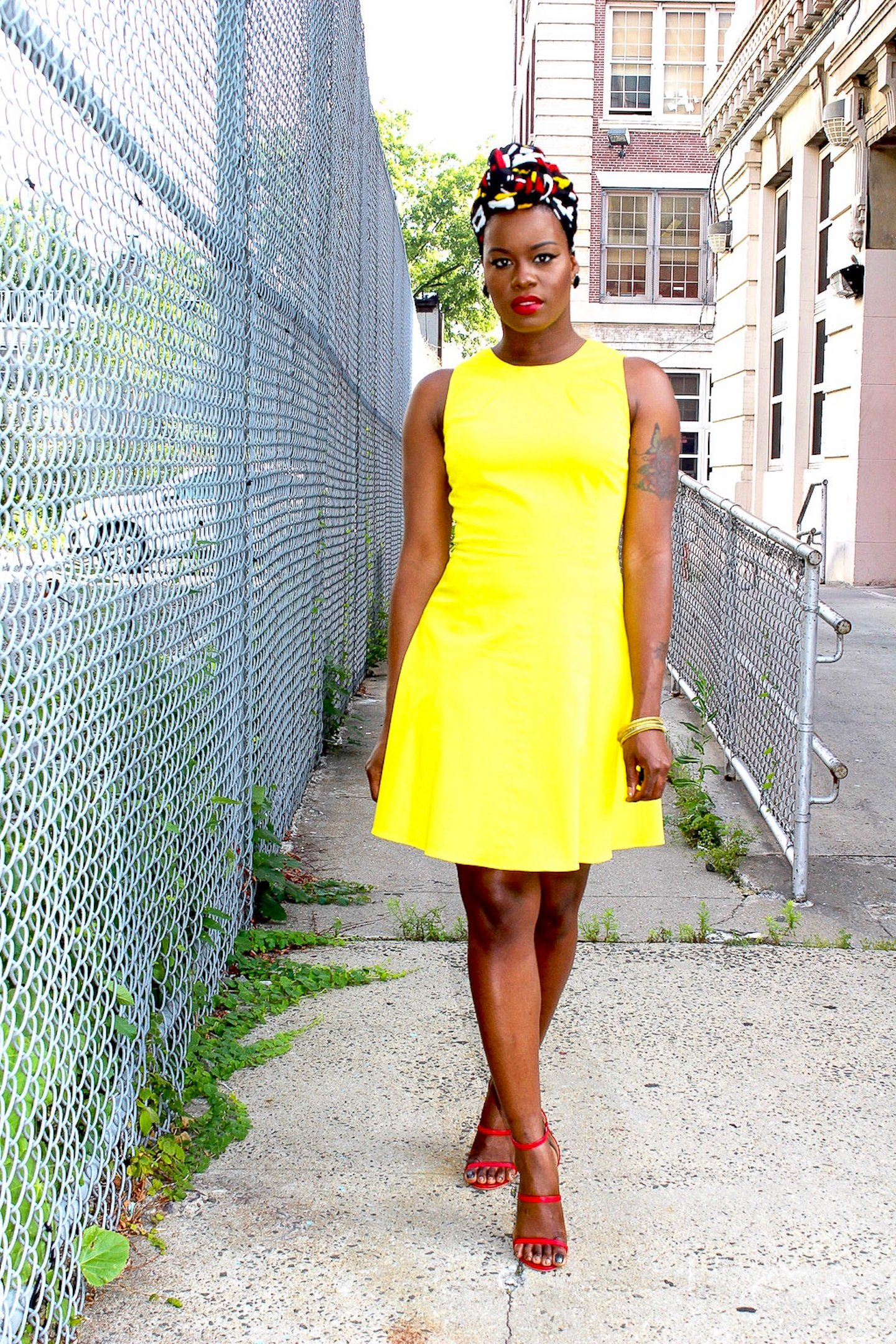 Illuminating Yellow Mini Dress