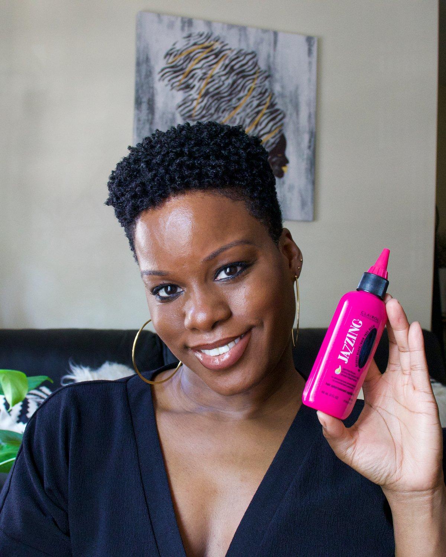 Jazzing Rinse Bluest Black On Natural Hair