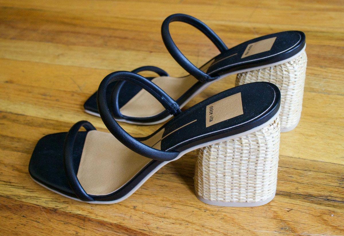 Dolce Vita Natie Rattan Heel Sandal