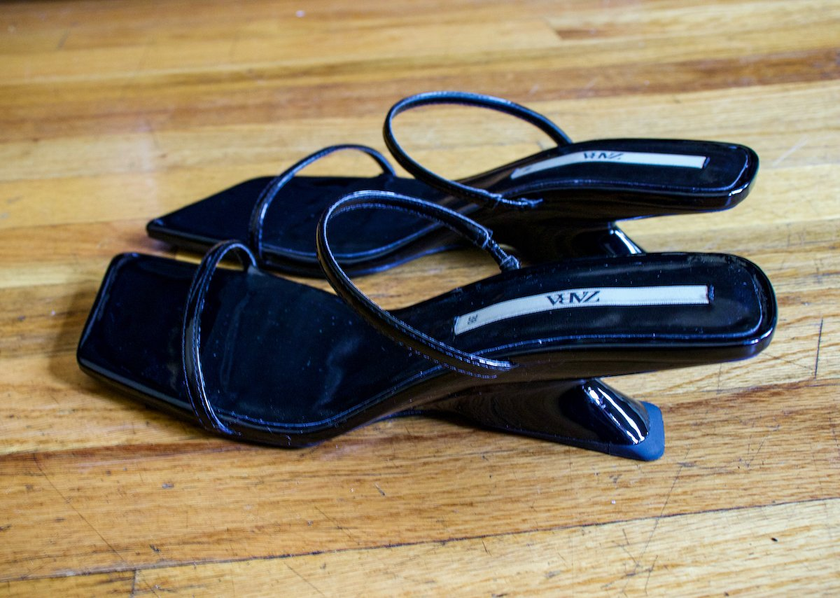 Zara Mini Wedge Sandal With Thin Straps